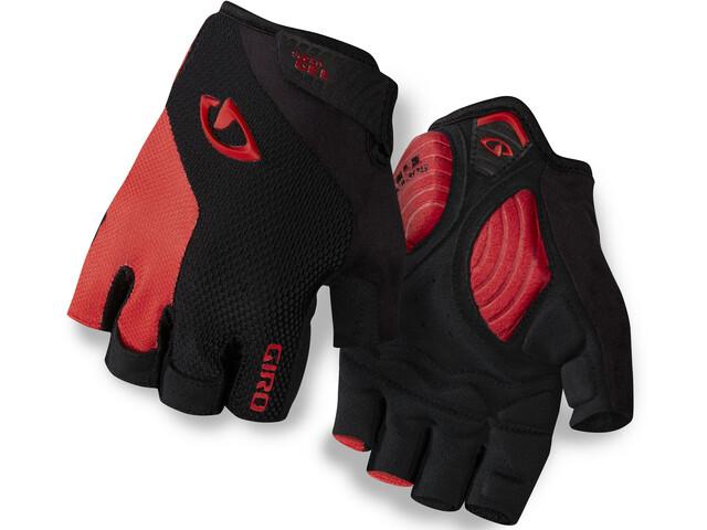 Giro Strade Dure Supergel Cykelhandsker, black/bright red
